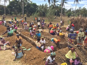 Week One -- Mwanjama villagers digging foundation for THEIR primary school