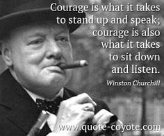 Winston Churchill on Courage